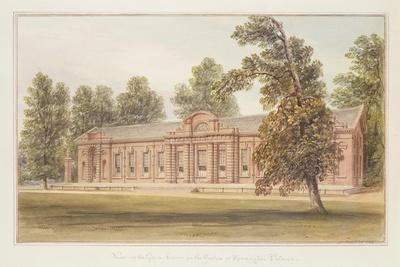The Orangery or Greenhouse in the Garden of Kensington Palace