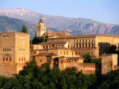 Alhambra from Albaicin, Granada, Andalucia, Spain by John Elk III