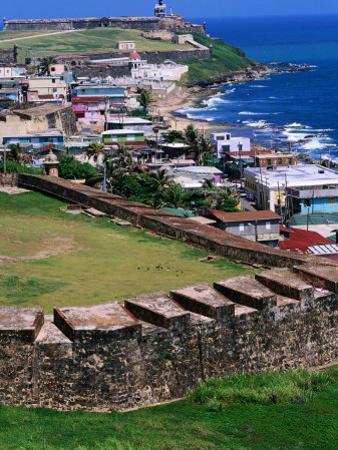 Castillo San Felipe Del Morro Overlooking Coastline, San Juan, Puerto Rico by John Elk III