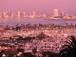 Downtown Skyline at Sunset, San Diego, California by John Elk III