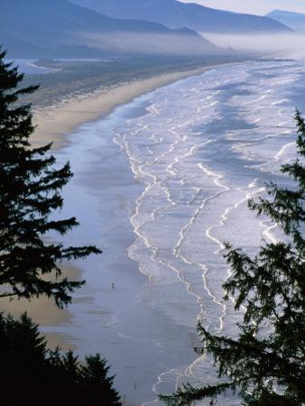 Manzanita Beach, Seen from Neahkahnie Mountain, Oregon by John Elk III