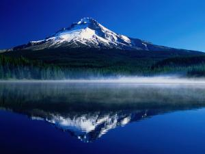 Mt. Hood Over Trilium Lake, Mt. Hood, USA by John Elk III