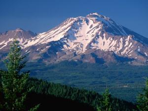 Mt. Shasta across Lake Siskiyou, California by John Elk III
