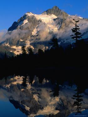 Mt. Shuksan Reflected on Picture Lake, Mt. Baker Scenic Byway, USA by John Elk III