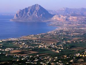 North Coast and Monte Cofano, Erice, Sicily, Italy by John Elk III