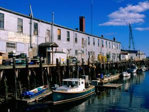 Old Port Exchange Area, Fishing Docks, Portland, Maine by John Elk III