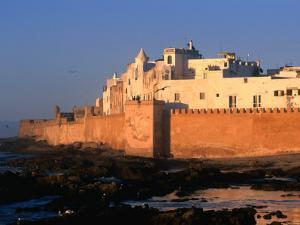 Old Waterfront City Behind Ramparts, Essaouira, Morocco by John Elk III