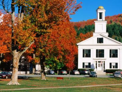 Orange County Courthouse with Autumn Leaves, Chelsea, Vermont by John Elk III