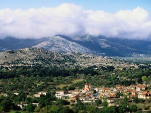 Overhead of Village, Lassithi Province, Agios Georgios, Greece by John Elk III