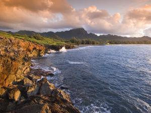 Poipu Beach, Cliffs, Kauai, Hawaii by John Elk III