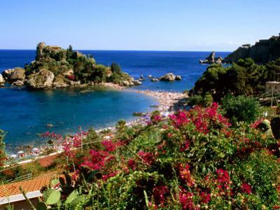 Populated Island Coastline, Isole Bella, Sicily, Italy by John Elk III