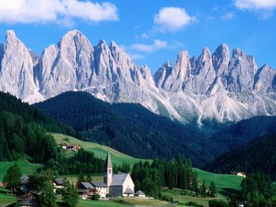 Santa Maddalena with Mt. Odle, Dolomites, Sciliar Natural Park, Trentino-Alto-Adige, Italy by John Elk III