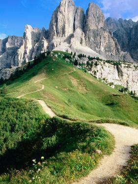 Sello Massif, Passo Gardena, Dolomites, Dolomiti di Sesto Natural Park, Trentino-Alto-Adige, Italy by John Elk III