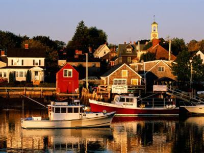 South End, Harbor and Houses, Portsmouth, New Hampshire by John Elk III