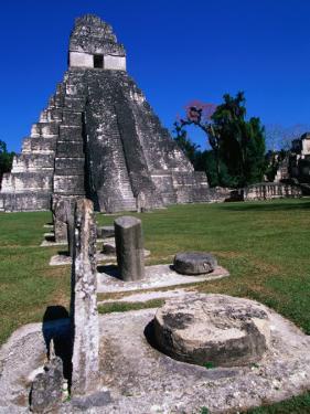 Temple I, Tikal, Guatemala by John Elk III