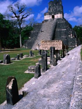 Temple Ii from North Acropolis, Tikal, Guatemala by John Elk III