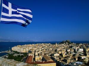 The Island of Corfu from the New Citadel, Corfu Island, Ionian Islands, Greece by John Elk III