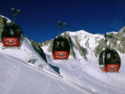 Valle Blanche Aerial Tramway Cabins, Rhone-Alpes, France by John Elk III