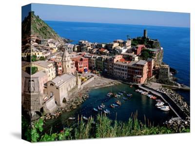 Vernazza and Harbour, Cinque Terre, Liguria, Italy by John Elk III