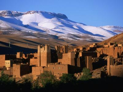 Village of Ait Arbi and Mountains, Dades Gorge, Morocco by John Elk III