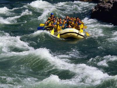 White-Water Rafting in Snake River, Jackson Hole, Jackson, Wyoming by John Elk III