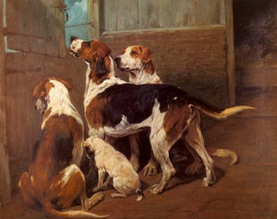 Hounds by a Stable Door by John Emms