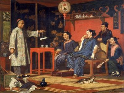 Chinese Ladies Looking at European Curiosities, 1868