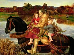 A Dream of the Past: Sir Isumbras at the Ford, 1857 by John Everett Millais