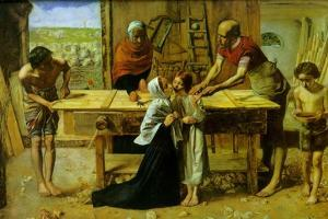 Christ on the House of His Parents by John Everett Millais