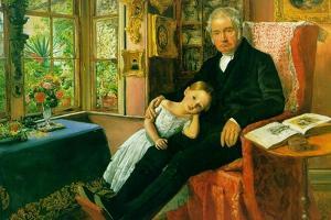 James Wyatt and His Granddaughter by John Everett Millais