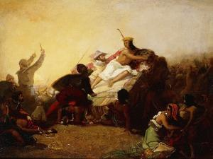 Pizarro Seizing the Inca of Peru, 1846 by John Everett Millais
