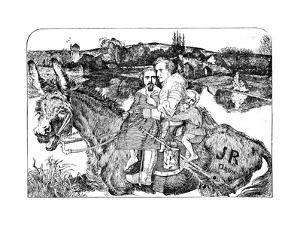 Skit on 'Sir Isumbras' and the P.R.B. by John Everett Millais