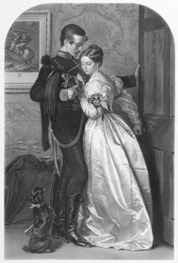 The Black Brunswicker, Engraved by Thomas L. Atkinson (1817-C.1890) Pub. by Henry Graves and Co. by John Everett Millais