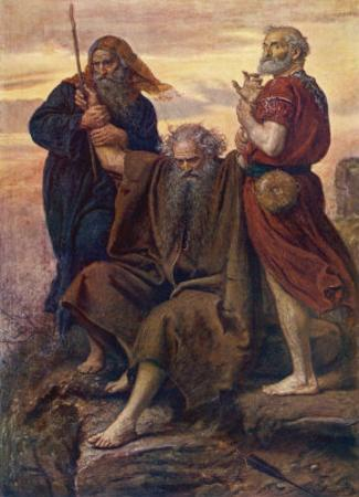 The Israelites are Enabled to Defeat the Amalekites Because Moses Arms are Held up by Aaron and Hur by John Everett Millais