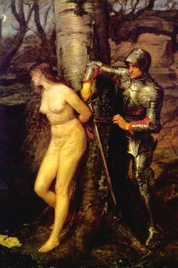 The Knight Errant by John Everett Millais