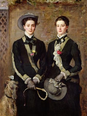 The Twins, Portrait of Kate Edith and Grace Maud Hoare, 1876 by John Everett Millais