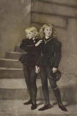 The Two Princes Edward and Richard in the Tower by John Everett Millais