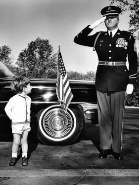 John F Kennedy Jr Look Up at Sgt