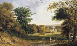 A View of Mereworth Castle and Park by John F . Tennant