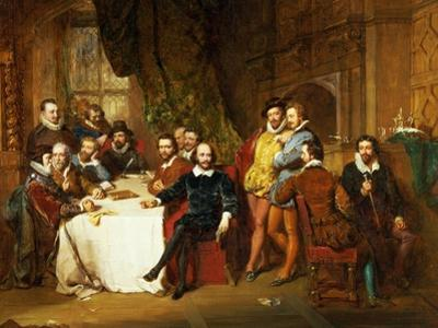 Shakespeare and His Friends at the Mermaid Tavern, 1850