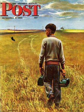 """Amber Waves of Grain,"" Saturday Evening Post Cover, September 8, 1945 by John Falter"