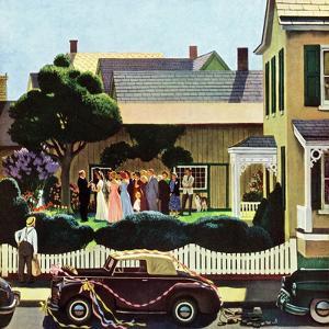"""Backyard Wedding"", June 24, 1950 by John Falter"
