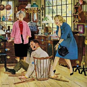 """Broken Antique Chair"", June 20, 1959 by John Falter"
