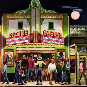 """""""Cactus Theater,"""" September 18, 1948 by John Falter"""