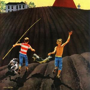 """""""Catfish"""", May 28, 1955 by John Falter"""