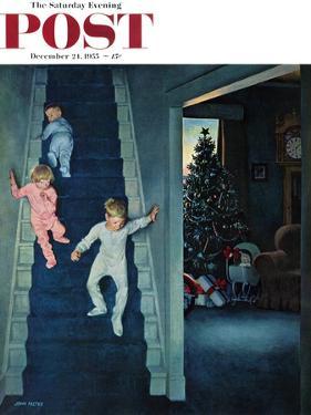 """Christmas Morning"" Saturday Evening Post Cover, December 24, 1955 by John Falter"