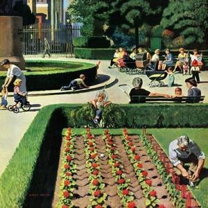 """City Park"", June 5, 1954 by John Falter"