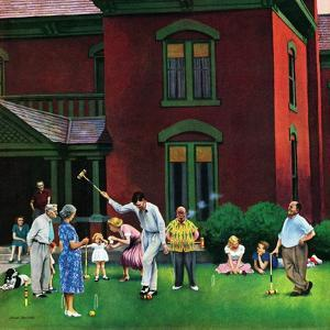 """Croquet Game"", September 29, 1951 by John Falter"