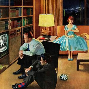 """Date with the Television"", April 21, 1956 by John Falter"