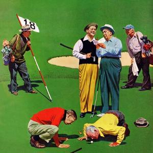 """Eighteenth Hole"", August 6, 1955 by John Falter"